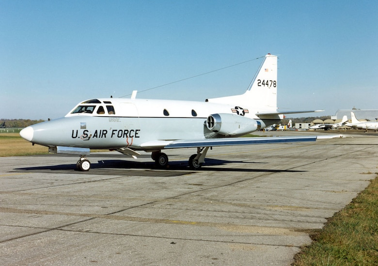DAYTON, Ohio -- North American T-39A Sabre Liner at the National Museum of the United States Air Force. (U.S. Air Force photo)