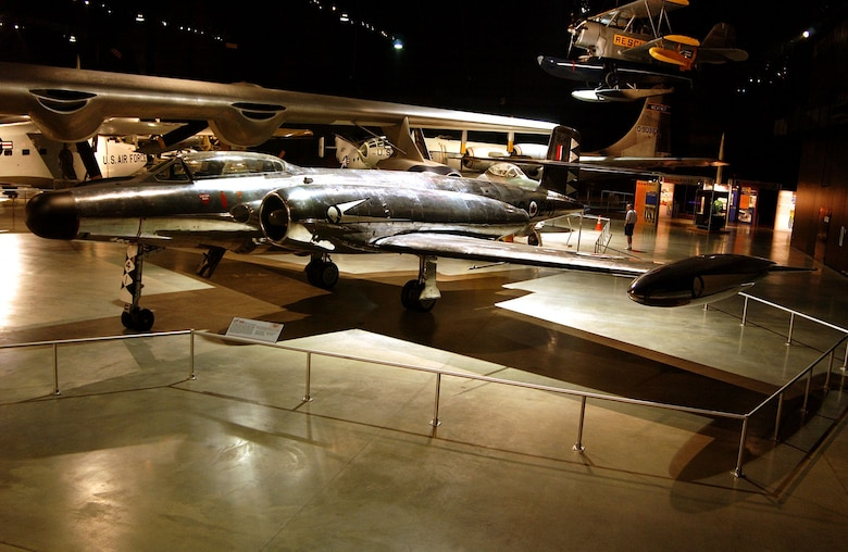 DAYTON, Ohio -- Avro CF-100 Mk IV Canuck in the Cold War Gallery at the National Museum of the United States Air Force. (U.S. Air Force photo)