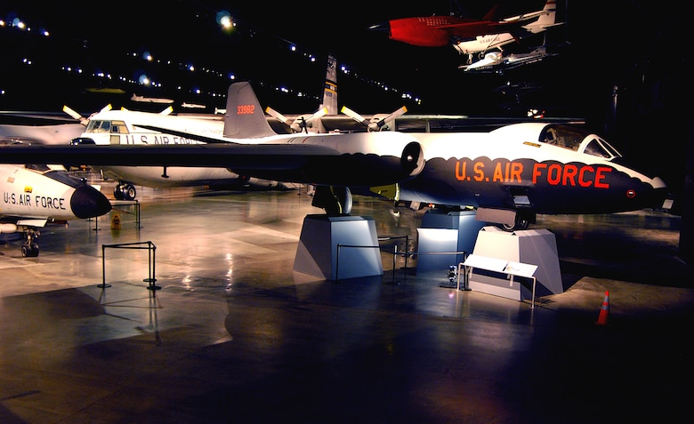 DAYTON, Ohio -- Martin RB-57D in the Cold War Gallery at the National Museum of the United States Air Force. (U.S. Air Force photo)
