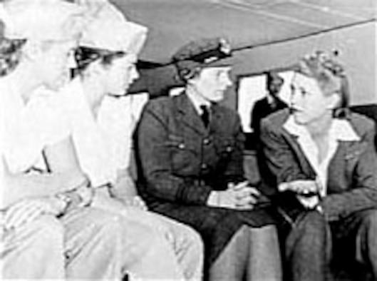 Jacqueline Cochran (right). (U.S. Air Force photo)