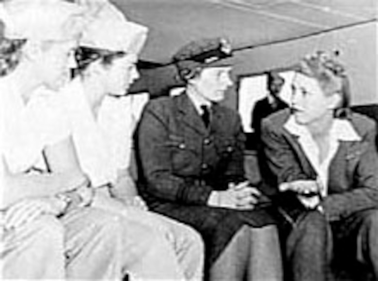 Jacqueline Cochran (right). (U.S. Air Force photo)