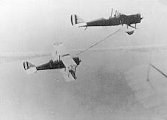 The first successful aerial refueling took place on June 25, 1923. (U.S. Air Force photo)