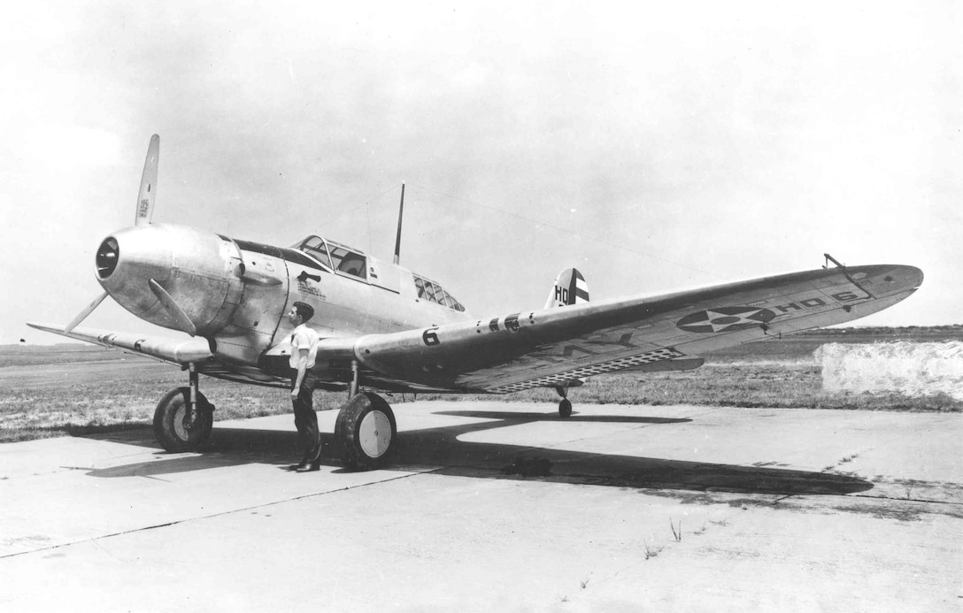 Northrop A-17A (NACA 17801; S/N 36-184) with NACA Nose Blower cowling installed. No. 6 aircraft was formerly assigned to the Air Corps Headquarters, Langley Field, Va. (U.S. Air Force photo)