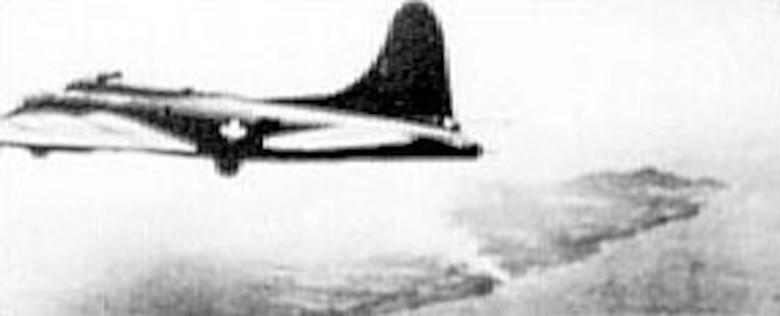 B-17 over Bougainville during World War II. (U.S. Air Force photo)