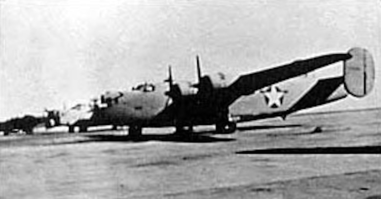 "Consolidated B-24D ""Lady Be Good."" (U.S. Air Force photo)"
