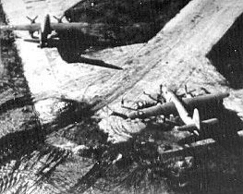 Medium bombers during World War II. (U.S. Air Force photo)