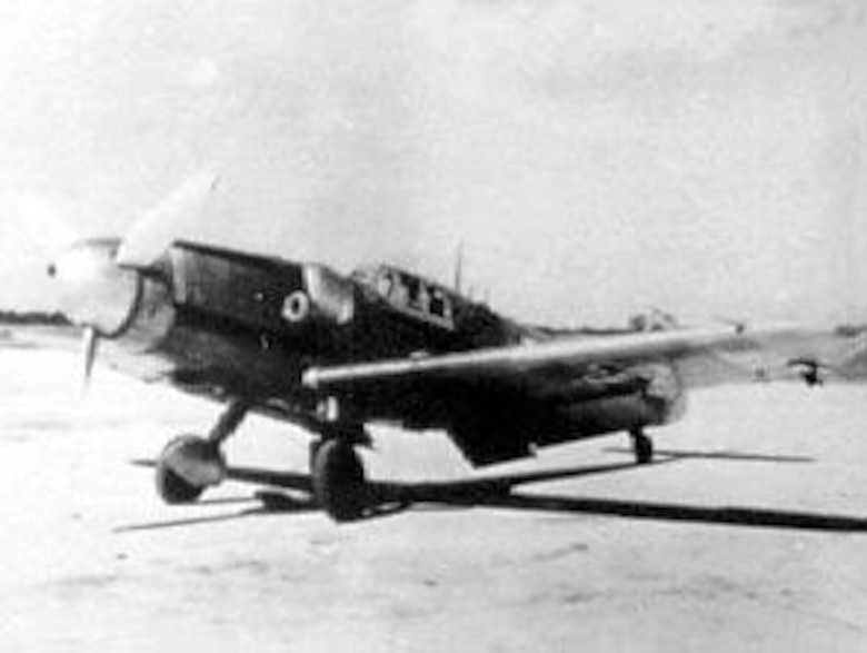 The two Luftwaffe single-engine fighters used primarily for intercepting B-17s and B-24s were the Messerschmitt Me 109 (shown here) and the Focke-Wulf Fw 190. (U.S. Air Force photo)