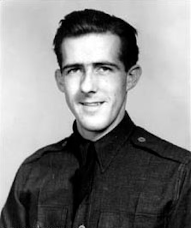 Official photo of Thomas B. McGuire Jr. as an Aviation Cadet. (U.S. Air Force photo)