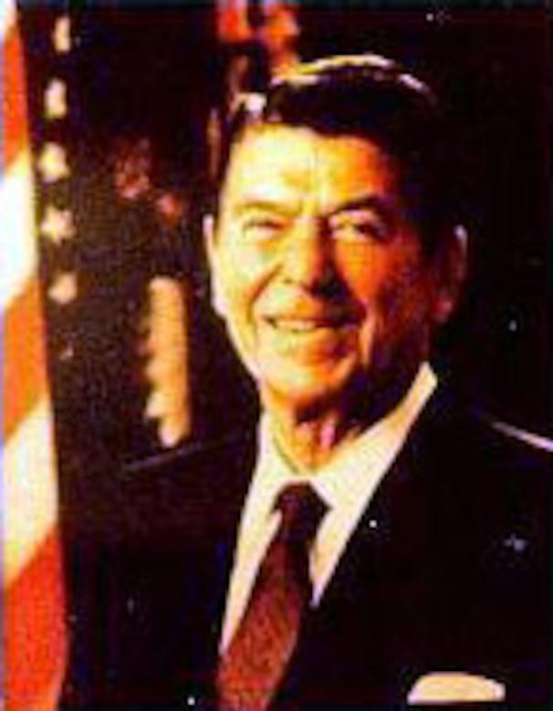 President Ronald Reagan. (U.S. Air Force photo)