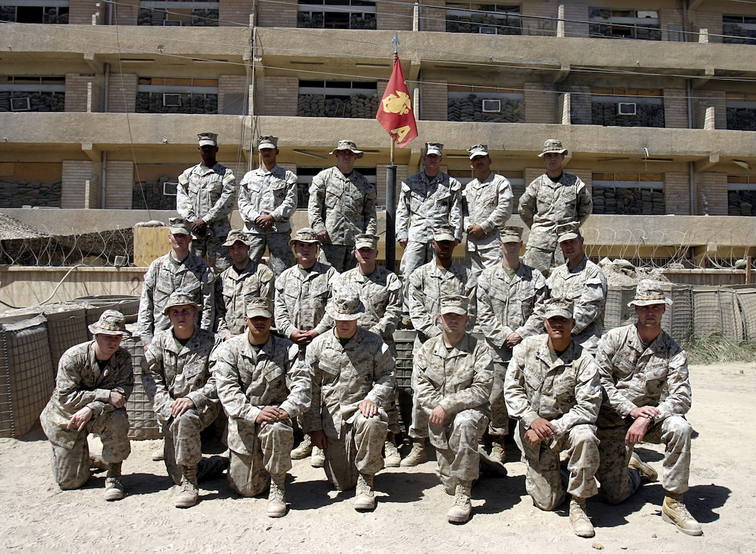 SAQLAWIYAH, Iraq - Marines of Headquarters Platoon, Company A, 1st Battalion, 6th Marine Regiment perform supply and logistics runs, keep communication assets working, and maintain personnel accountability for their company.  The 21 Marines have been assisting their infantrymen conduct counterinsurgency operations since mid-March.