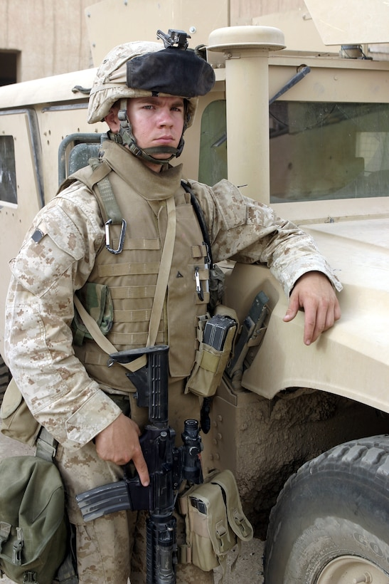 FALLUJAH, Iraq - Lance Cpl. Brad McKee, an infantryman with 2nd Platoon, Company B, 1st Battalion, 6th Marine Regiment, currently serves alongside Iraqi Security Forces here to rid the city of insurgents.  The 20-year-old Hammond, La. native's unit has been in Iraq approximately 90 days, successfully confiscating numerous weapons and explosives, detaining several known insurgent supporters, and helping Fallujah's residents rebuild their infrastructure.