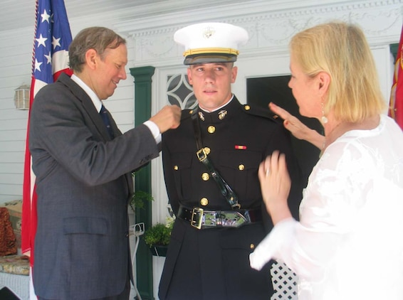 N y governor 39 s son commissioned in the marine corps marine corps recruiting command news - Becoming a marine officer ...