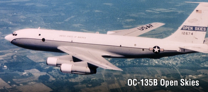 OC-135B Open Skies, history spotlight graphic, U.S. Air Force graphic