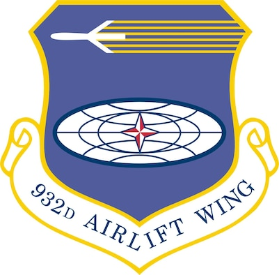 932nd Airlift Wing unit shield