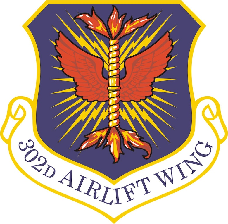 302nd Airlift Wing unit shield