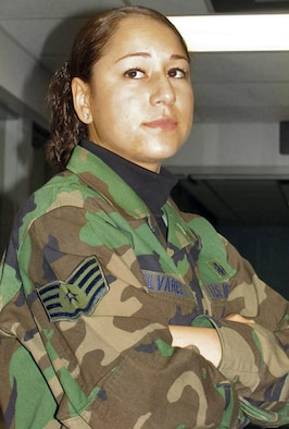 WHITEMAN AIR FORCE BASE, Mo. (AFPN) -- Staff Sgt. Yaneth Alvarez moved to the United States in 1993 at age 13. She sends $300 a month to help support her family in Columbia. (U.S. Air Force photo by Senior Airman Joe Lacdan)