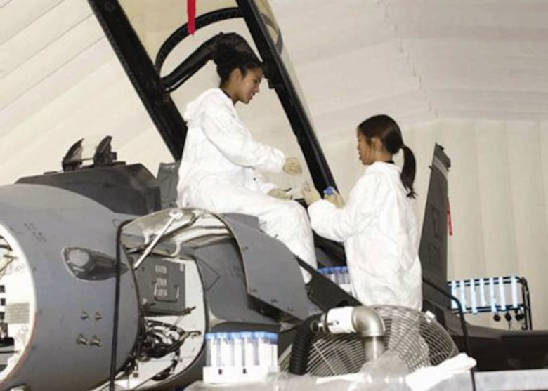 EDWARDS AIR FORCE BASE, Calif. (AFMCNS) -- Tina Slade and Jennifer 