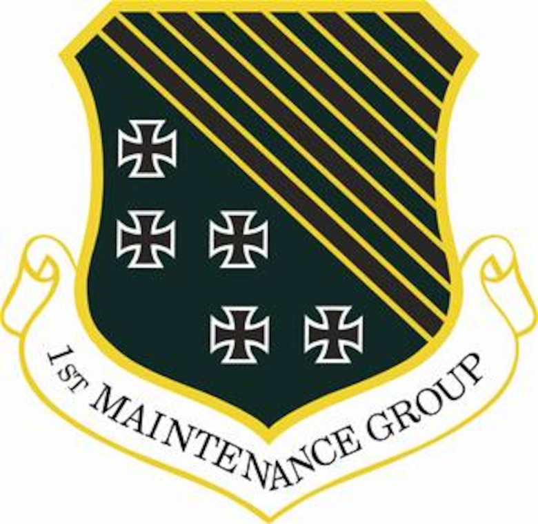1st Maintenance Group shield (color) provided by 1st FW Public Affairs office.