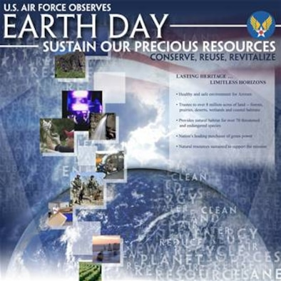 Earth Day Graphic. This graphic is 10x10 inches @ 300 ppi and was created by Air Force Graphics.
