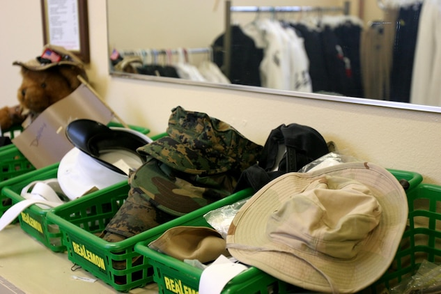 Items Found At The Navy Marine Corps Relief Society Thift Shop Include  Uniform Items Like
