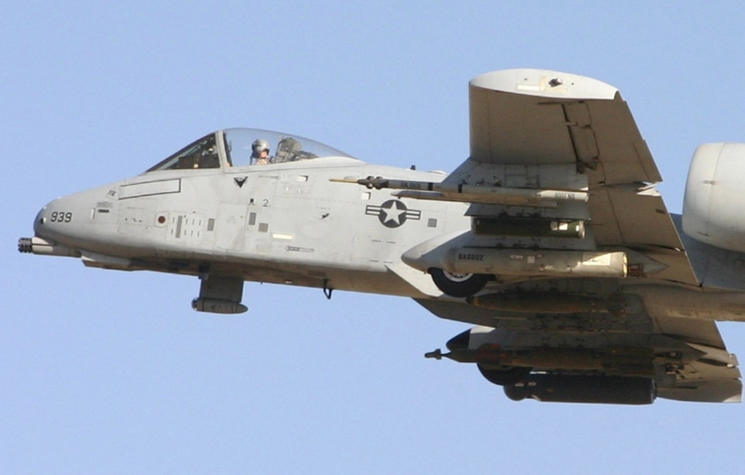 An A-10 Thunderbolt II carries a Fighter Aircraft Communication Enhancement pod. Fielded for the first time in late 2004, the FACE pod is a solution to communication problems often experienced by aircraft in the mountainous regions of Afghanistan. (Courtesy Photo)