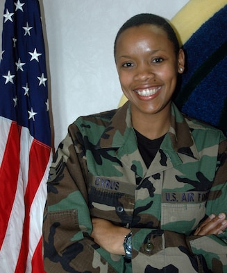 MCCHORD AIR FORCE BASE, Wash., - Airman First Class Nicole Cyrus, a Reservist with the 728th Airlift Squadron, became a U.S. citizen March 20. A native of the Caribbean island Trinidad and Tobago, Airman Cyrus immigrated to western Washington in 2001.