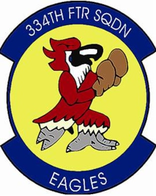 334th Fighter Squadron shield (color), provided by 4th Fighter Wing Public Affairs.