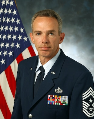"""Chief Master Sgt. Howard """"Jim"""" Mowry, Air Force Special Operations Command command chief."""
