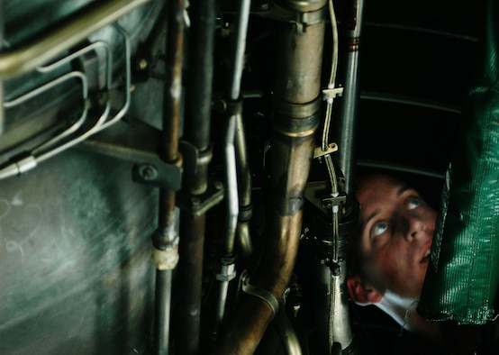 Westover maintainers are trained on the inner workings of the massive engines aboard the C-5 engines.