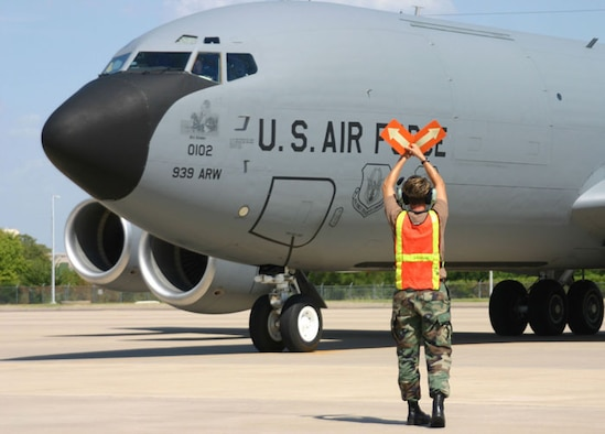Two KC-135R aircraft arrived at Tinker Saturday from the 939th Air Refueling Wing in Portland, Ore. The aircraft are two of the four authorized by the 2005 Base Realignment and Closure process. (Air Force photo)