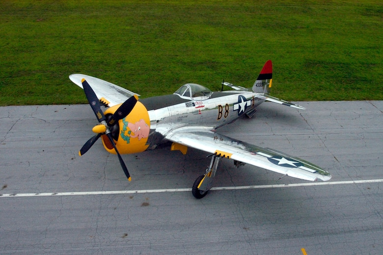 DAYTON, Ohio -- Republic P-47D at the National Museum of the United States Air Force. (U.S. Air Force photo)
