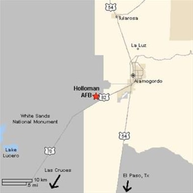 Directions to Holloman Air Force Base, New Mexico