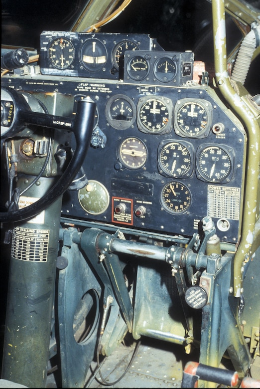 "DAYTON, Ohio - Boeing B-29 ""Bockscar"" cockpit at the National Museum of the U.S. Air Force. (U.S. Air Force photo)"