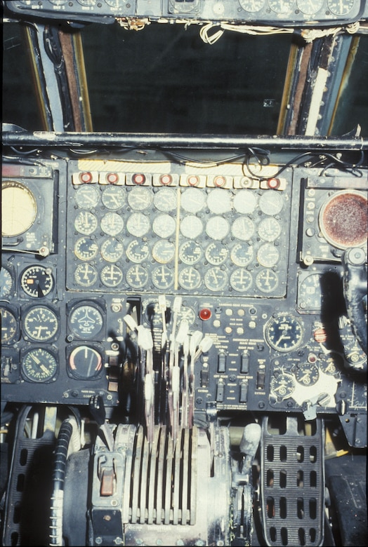 DAYTON, Ohio - Boeing B-52D Stratofortress cockpit at the National Museum of the U.S. Air Force. (U.S. Air Force photo)