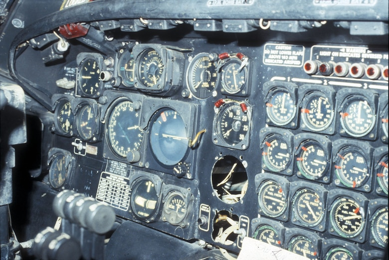 DAYTON, Ohio - Convair B-36J Peacemaker cockpit at the National Museum of the U.S. Air Force. (U.S. Air Force photo)