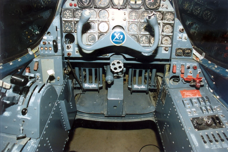 DAYTON, Ohio -- Douglas X-3 cockpit at the National Museum of the United States Air Force. (U.S. Air Force photo)
