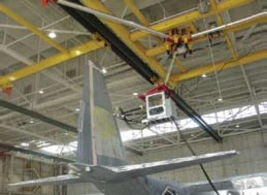 Aerial Multiaxis Platform Enhances Air Force Depaint and Maintenance Operations