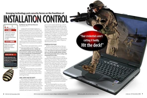 Page Design - Installation Control