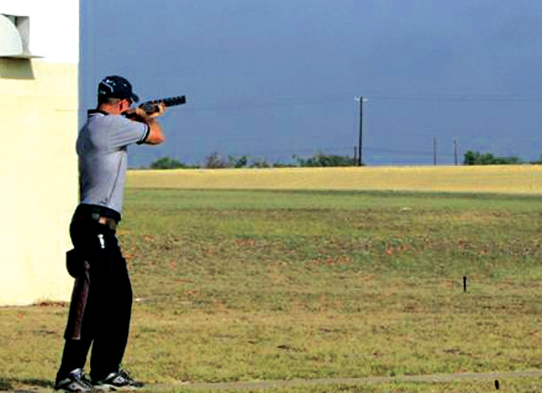 Master Sgt. Stuart Brown, 4th Maintenance Operations Squadron,  competes on the Air Force American Skeet Team in the 2006 World Skeet Championships Oct. 6-14 in San Antonio.