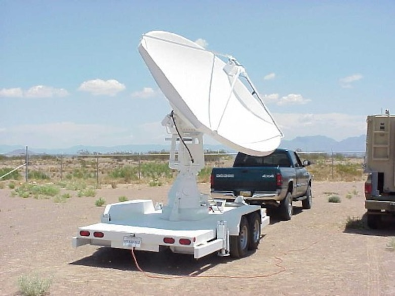 High Gain Antenna on trailer