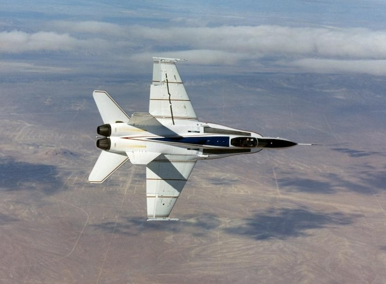 The X-53 proved Active Aeroelastic Wing Technology in full scale.  (Air Force photo by Jim Ross, NASA Dryden flight Research Center)