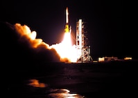 The Air Force Research Laboratory's TacSat-2 satellite and NASA's GeneSat-1 microsatellite lifted off aboard an Air Force Minotaur 1 rocket at the top of the launch window 7 a.m., today from NASA's Wallops Flight Facility on the east coast of Virginia. (NASA photo)