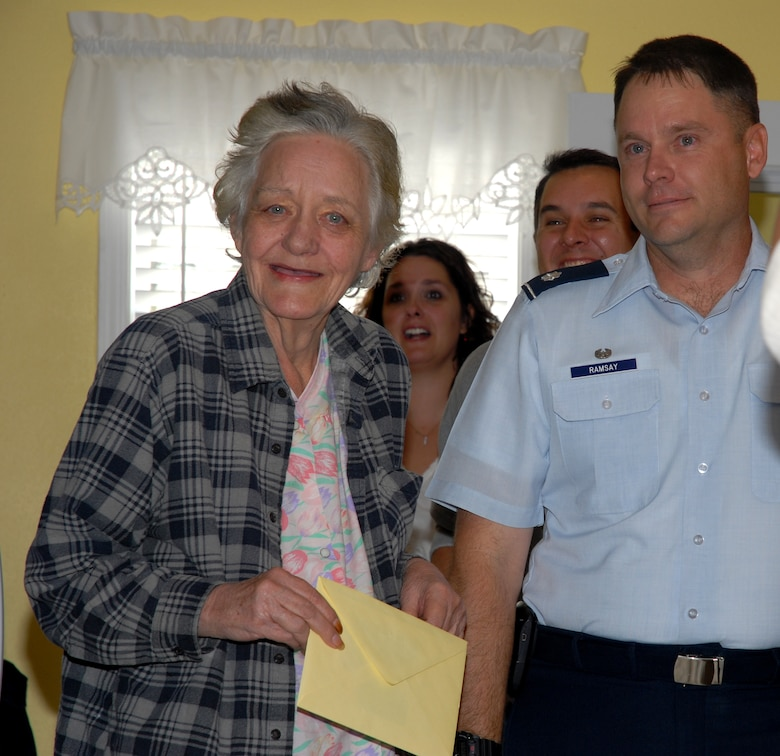 Home Again--Mrs. Schuler with Col Ramsey