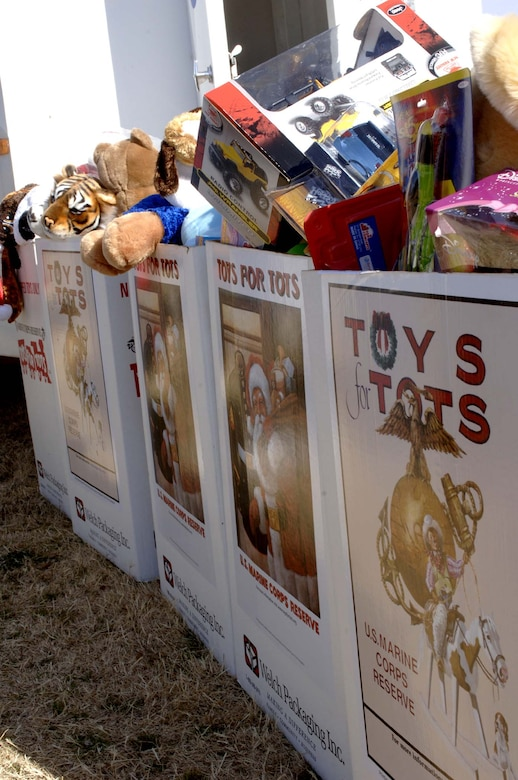 Toys collected to help children have a happier holiday fromToys for Tots will be given to the children Dec. 23. (U.S. Air Force photo by Staff Sgt. Jason Colbert)