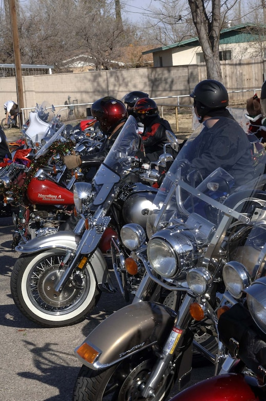 Members from the Holloman and Alamogordo community show their motorcycles for Toys for Tots Saturday at Washington Park in Alamogordo. (U.S. Air Force photo by Staff Sgt. Jason Colbert)