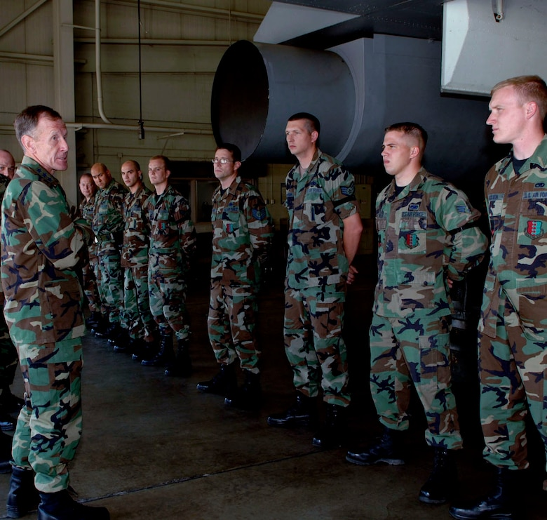 Lt. Gen. Norman Seip, commander, 12th Air Force and Air Forces Southern, visited with Ellsworth Airmen Aug. 30. General Seip toured the base and discussed current Air Force operations and provided guidance on where the Air Force is heading in the near future.