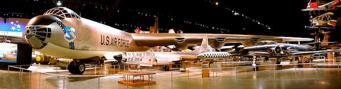 DAYTON, Ohio -- Convair B-36J Peacemaker in the Cold War Gallery at the National Museum of the United States Air Force. (U.S. Air Force photo by Ben Strasser)
