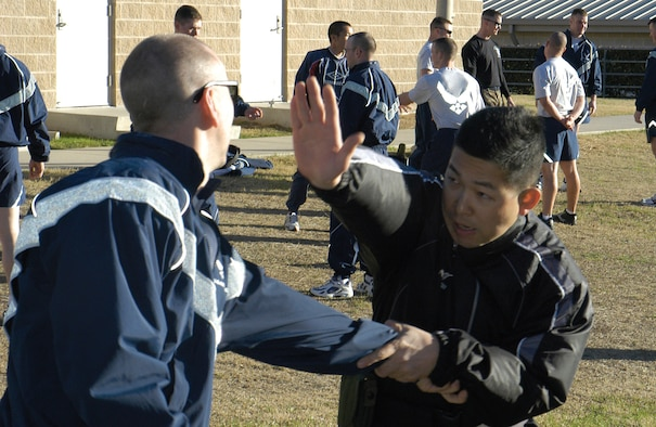 japanese officers attend af security forces basic course