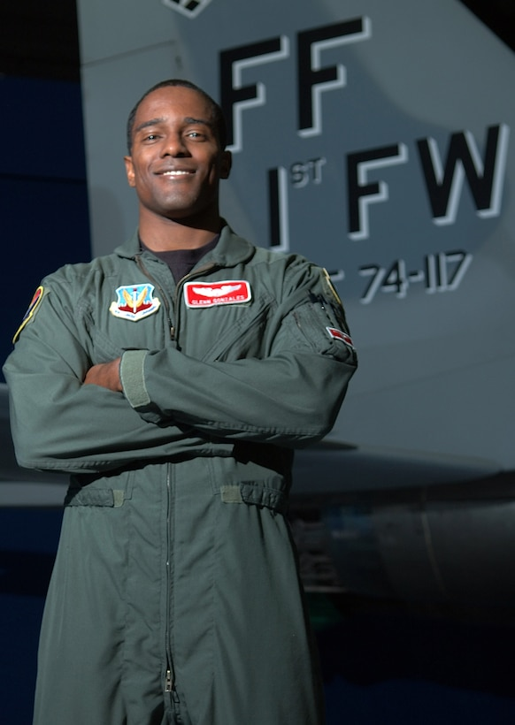 LANGLEY AIR FORCE BASE, Va. (AFPN) - Capt. Glenn Gonzales is one of the many applicants to apply for membership as a Tuskegee Airmen in the Hampton Roads area. He is a pilot for the 71st Fighter Squadron here. (U.S. Air Force photo by Senior Airman DeLicha Germany)