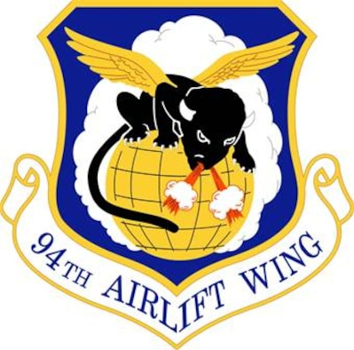 94th Airlift Wing unit shield